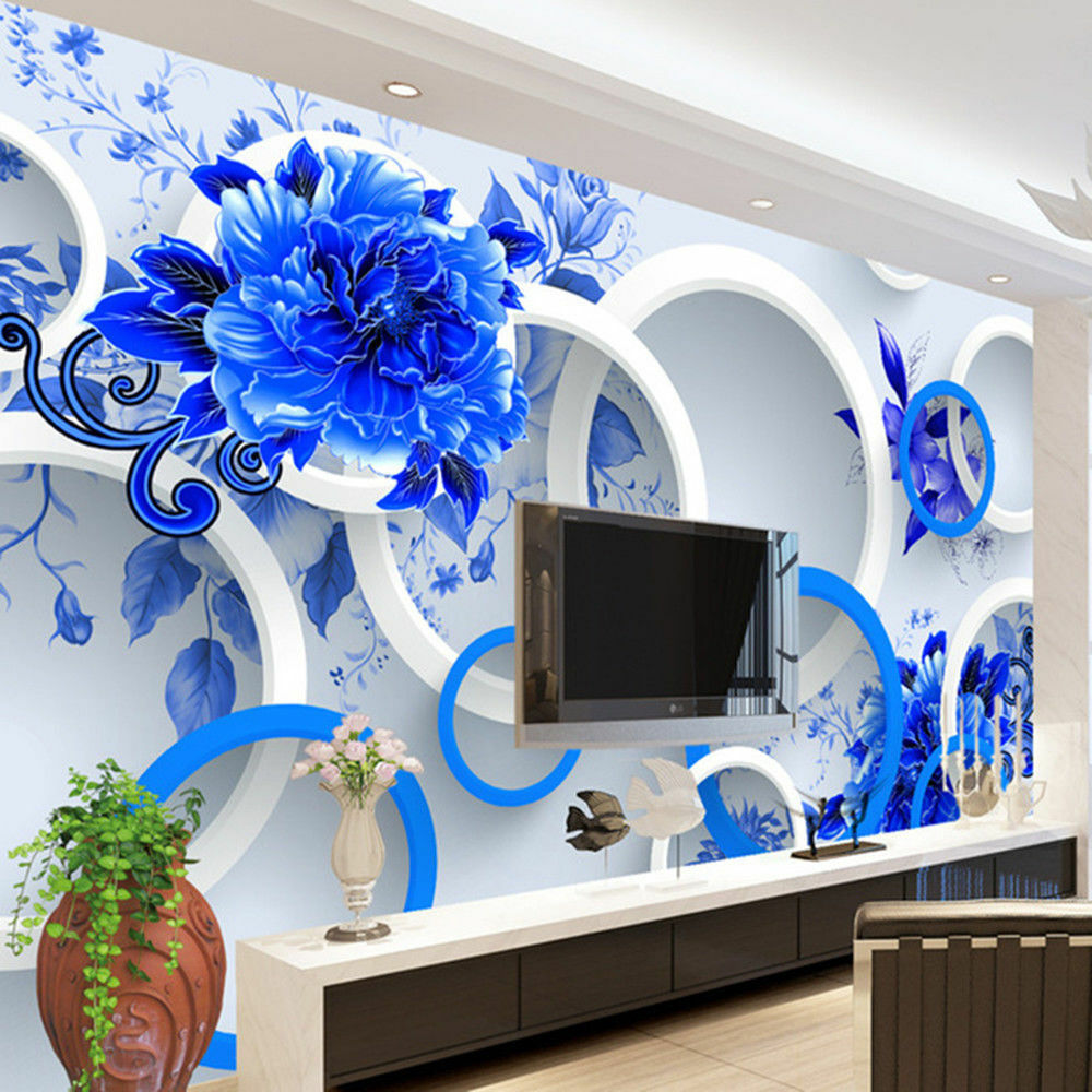 3d wallpaper bedroom mural modern luxury embossed flowers for Bedroom 3d wallpaper