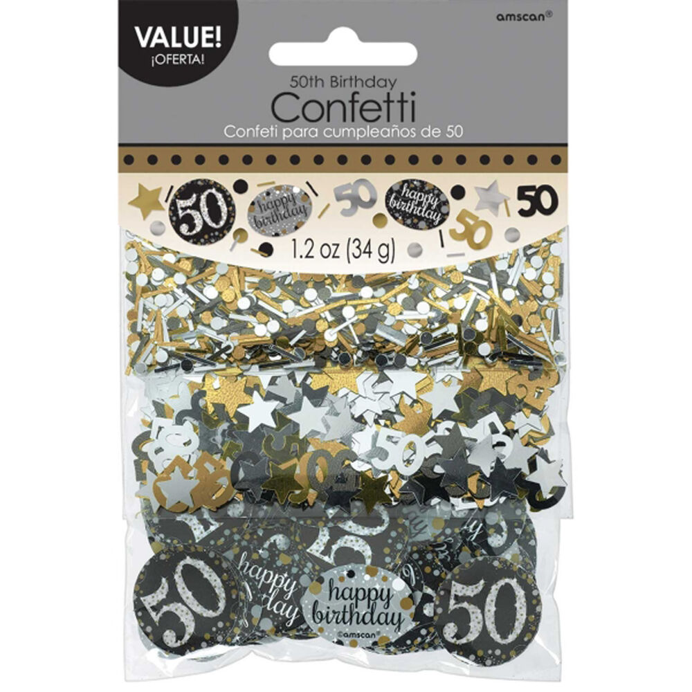 50th birthday confetti table decoration sprinkle black for 50th party decoration
