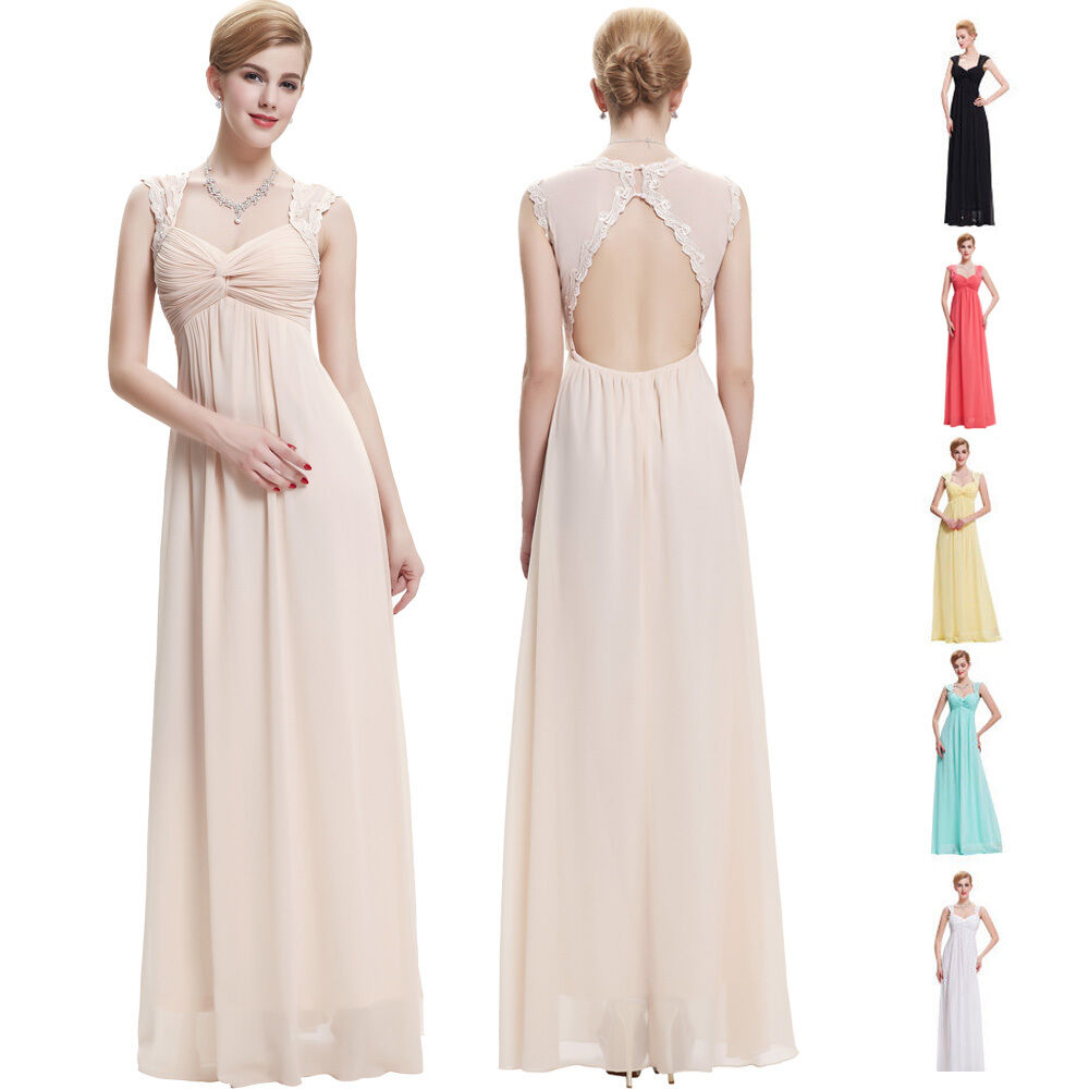 Maternity sexy long evening prom party cocktail formal for Ebay wedding bridesmaid dresses