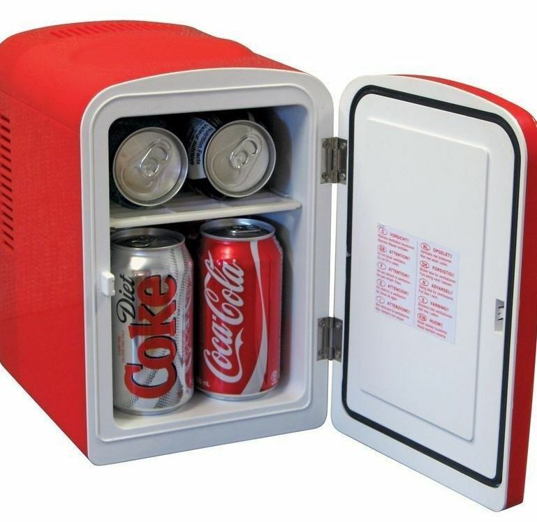 Retro coca cola 6 can personal mini fridge cooler 6 can for 1 door retro coke cooler