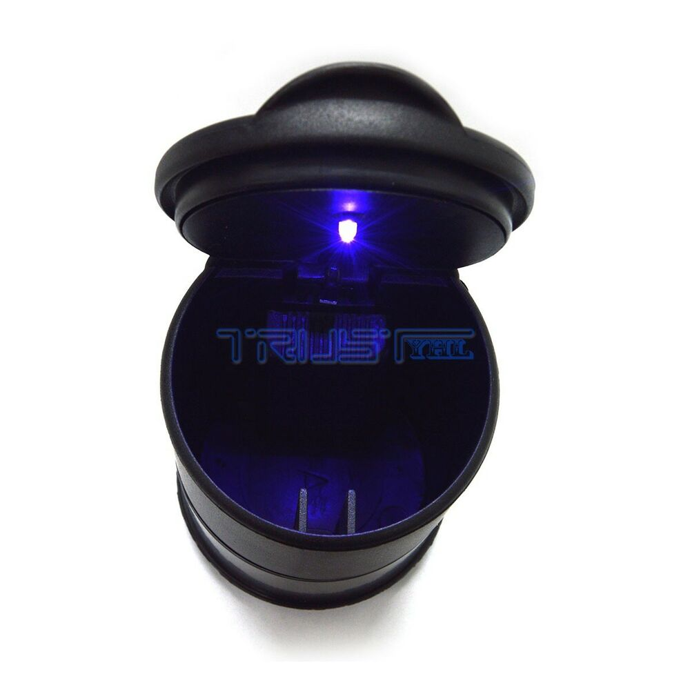 car ashtray led light auto travel cigarette ash holder cup black thermostable ebay. Black Bedroom Furniture Sets. Home Design Ideas