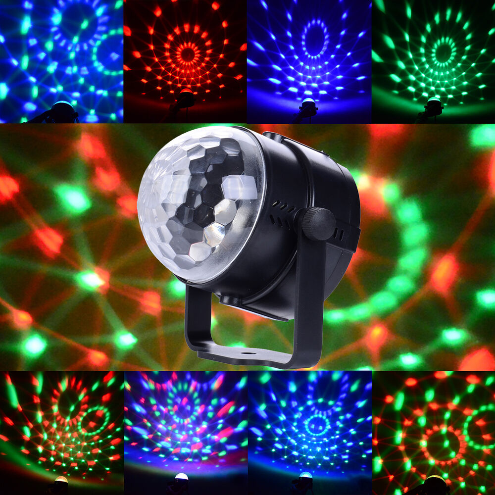 3w rgb magic rotating ball effect led stage lights ktv party club bar disco dj ebay. Black Bedroom Furniture Sets. Home Design Ideas
