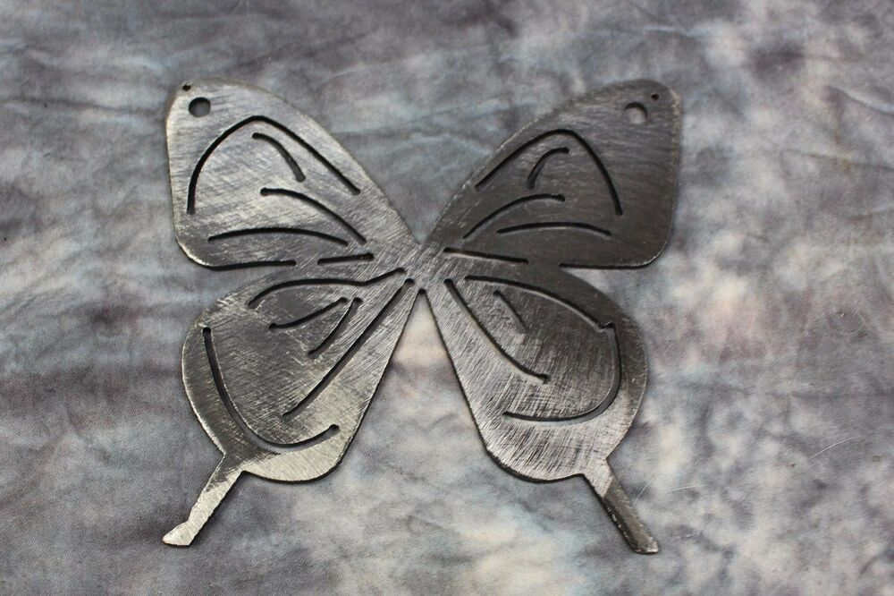 Small butterfly 5 metal wall art decor silver ebay for Small wall art