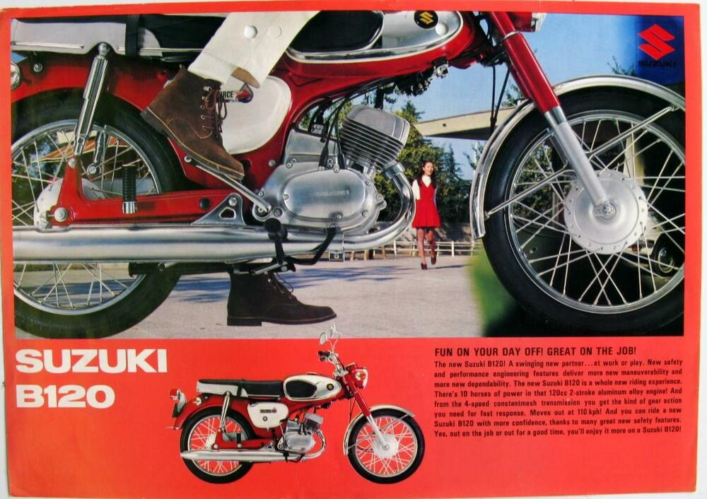 suzuki b120 - motorcycle sales sheet