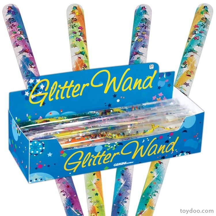 jumbo glitter wand by toysmith fidget toy visual stimulation stress relief ebay. Black Bedroom Furniture Sets. Home Design Ideas