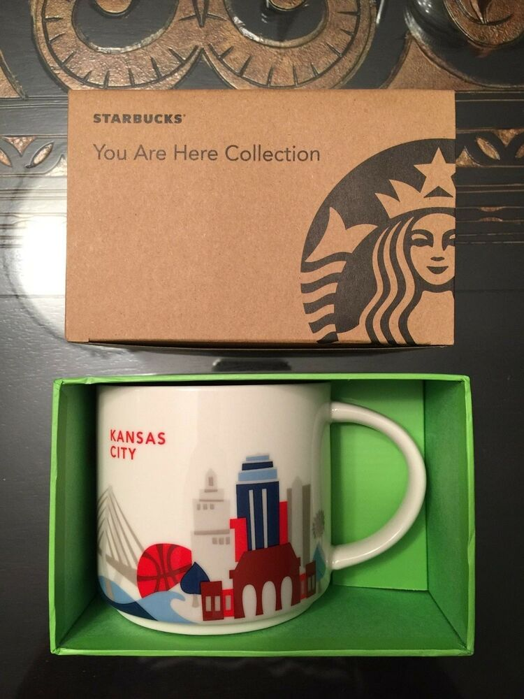 kansas city starbucks mug 14 oz you are here collection yah cup new in box ebay. Black Bedroom Furniture Sets. Home Design Ideas