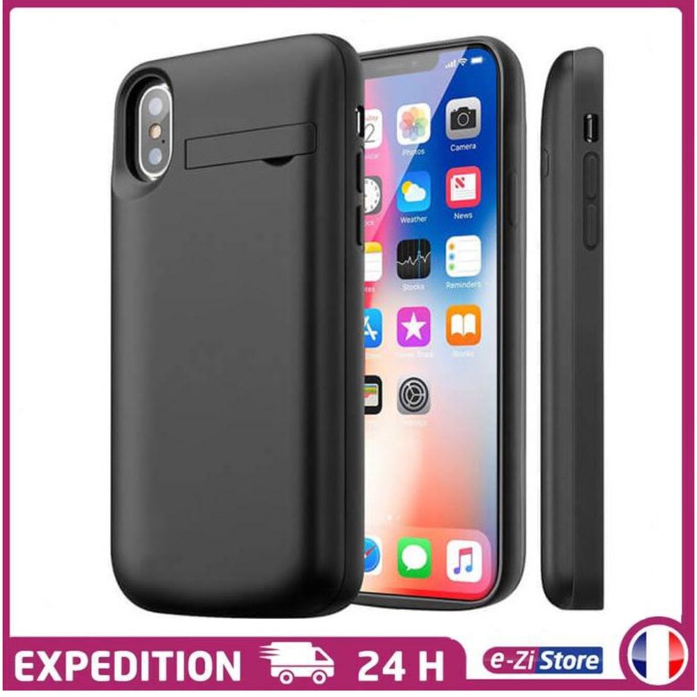 coque chargeur batterie externe housse support iphone 8 7. Black Bedroom Furniture Sets. Home Design Ideas