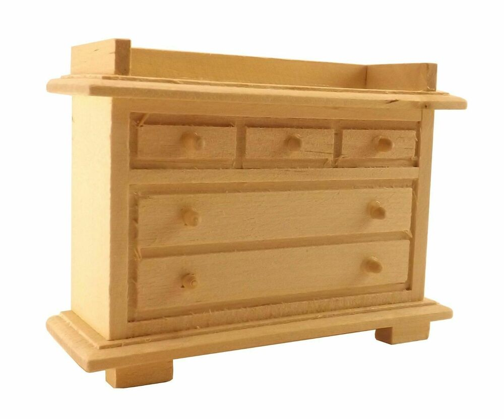 Unfinished Wood Pine Cabinet Bar Hutch Dollhouse