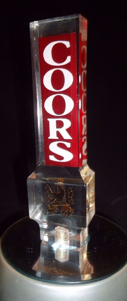Coors Draft Lucite Beer Tap Handle Brew Keg Pub Tavern Bar