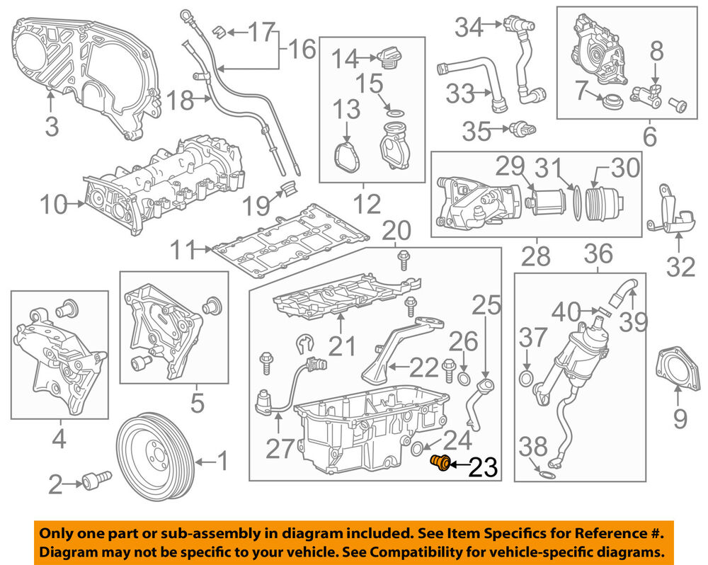 2012 chevrolet cruze engine diagram chevrolet cruze engine compartment diagram chevrolet gm oem 14-15 cruze engine parts-drain plug ...