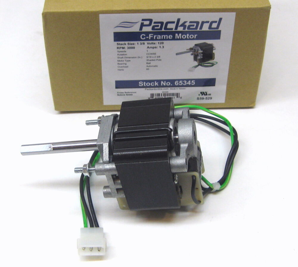 Packard 65345 Motor For Nutone Vent Bathroom Exhaust Fan
