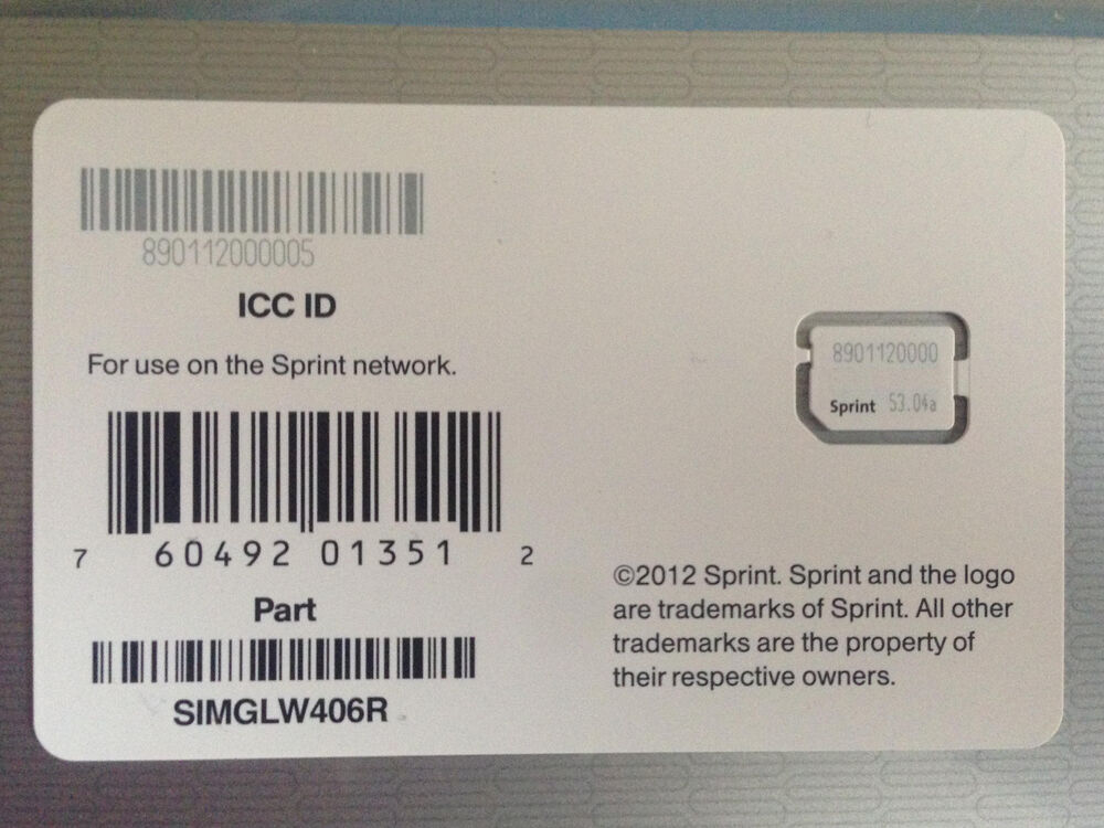 sprint sim card iphone 5 new sprint nano sim card for iphone 5 simglw406r for 1024