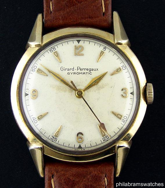 Girard Perregaux Gyromatic Vintage 10k Yellow Gold Filled