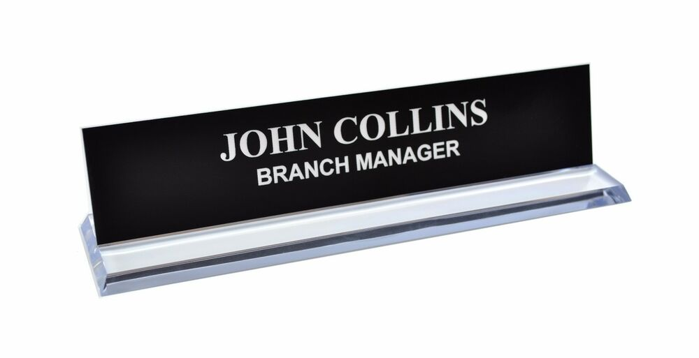Personalized Office Desk Name Plate Amp Sign 4 Colors