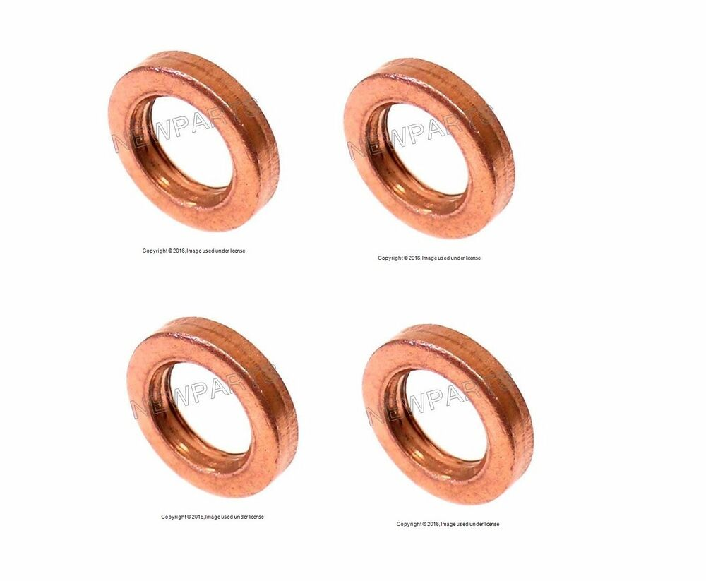 Vw 96 06 Tdi Fuel Injector Seal Copper Lower X4 D P