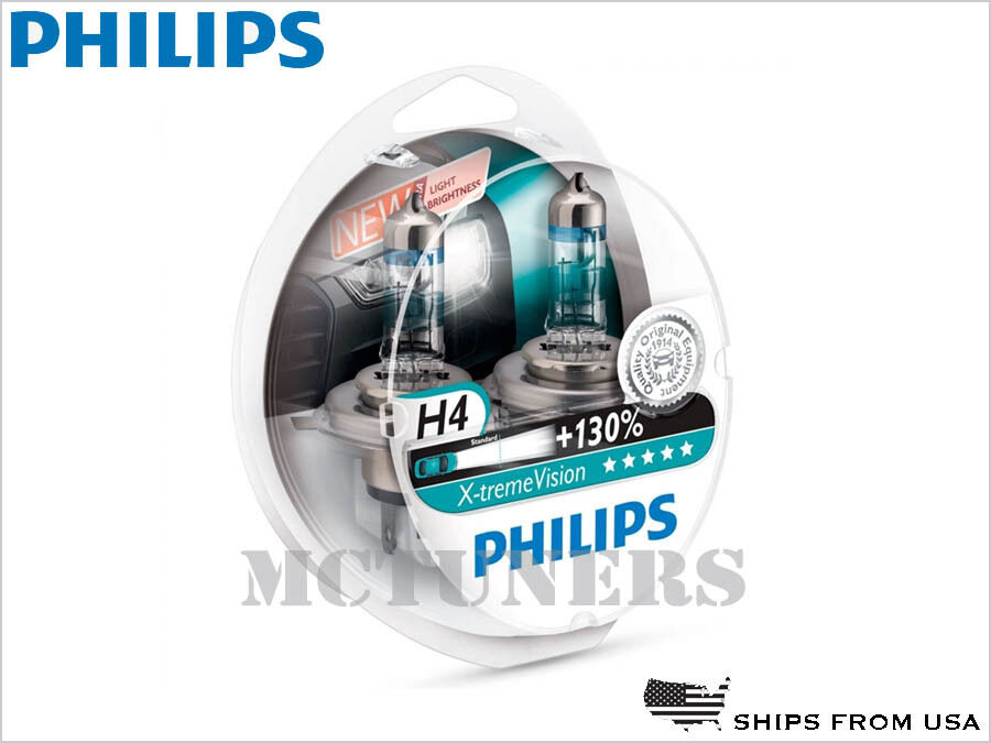 2x philips x treme vision 130 h4 9003 hb2 headlight. Black Bedroom Furniture Sets. Home Design Ideas