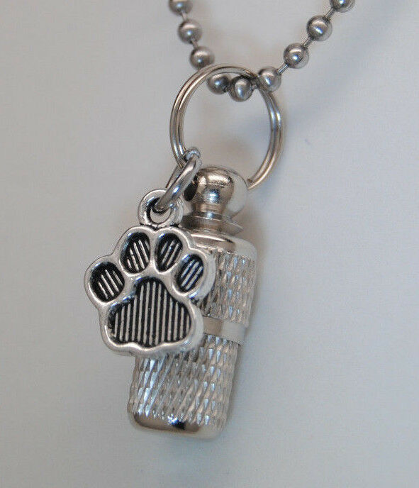 pet cremation jewelry paw urn necklace memorial keepsake