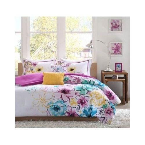 bedroom comforter set 5pc bed in a bag teen kids dorm guest twin full queen king ebay. Black Bedroom Furniture Sets. Home Design Ideas