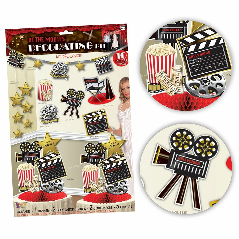At The Movies Room Decoration Kit Pack Hollywood Theme