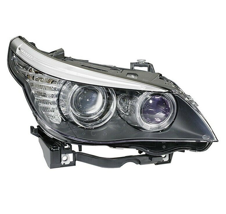 Hella Headlight Assembly Halogen For Bmw 528i 528xi 535i
