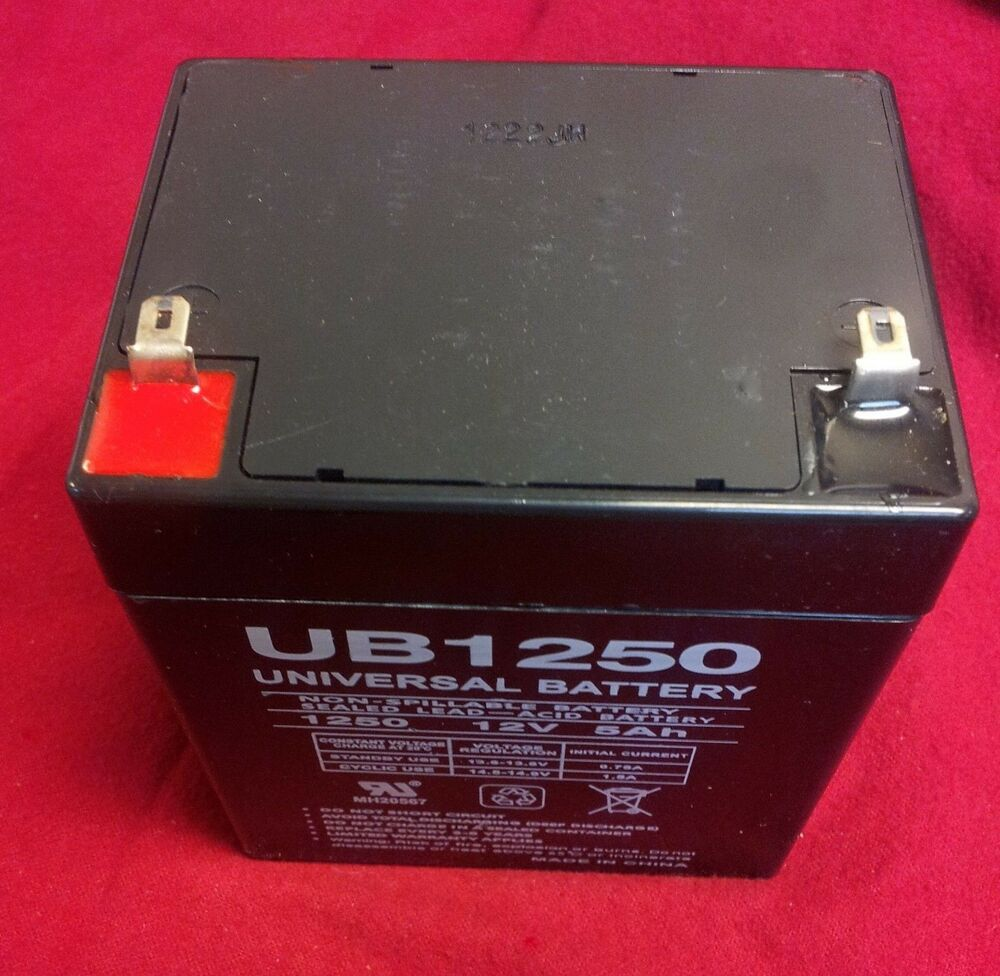 Ub1250 12v 5ah Home Security System Alarm Panel Battery 806593457418