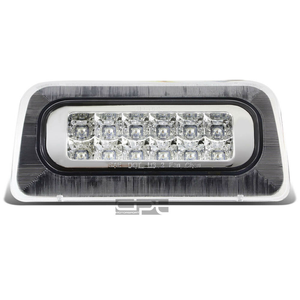 Details About Fit 94 03 Chevy S10 Gmc Sonoma 2 Row Led Third 3rd Tail Brake Light Lamp Chrome