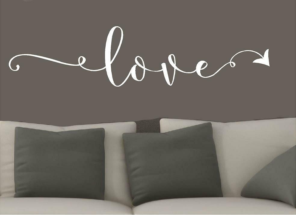 Word Wall Art Vinyl Lettering Home Decor ~ Love arrow vinyl wall decals home decor words