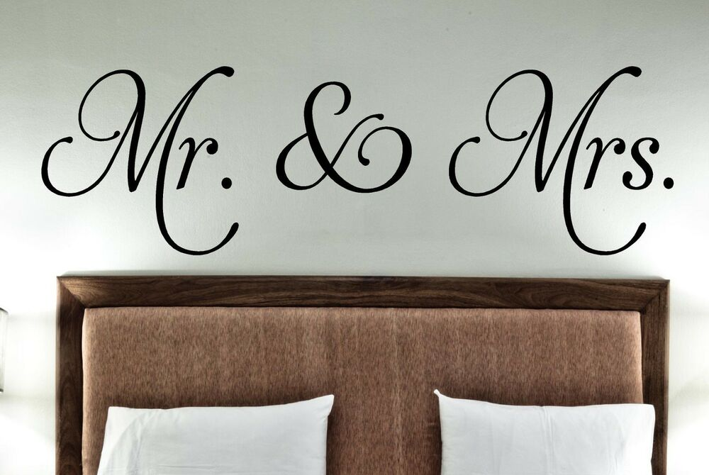 Word Wall Art Vinyl Lettering Home Decor ~ Mr mrs vinyl decals decor wall words stickers family