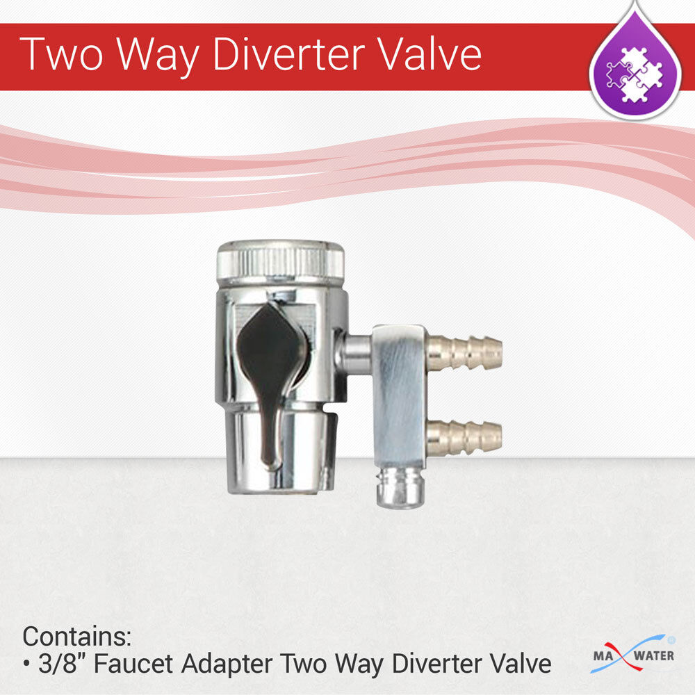 faucet adapter two way diverter valve for water filter purifier tube size 38 - Kitchen Sink Diverter Valve