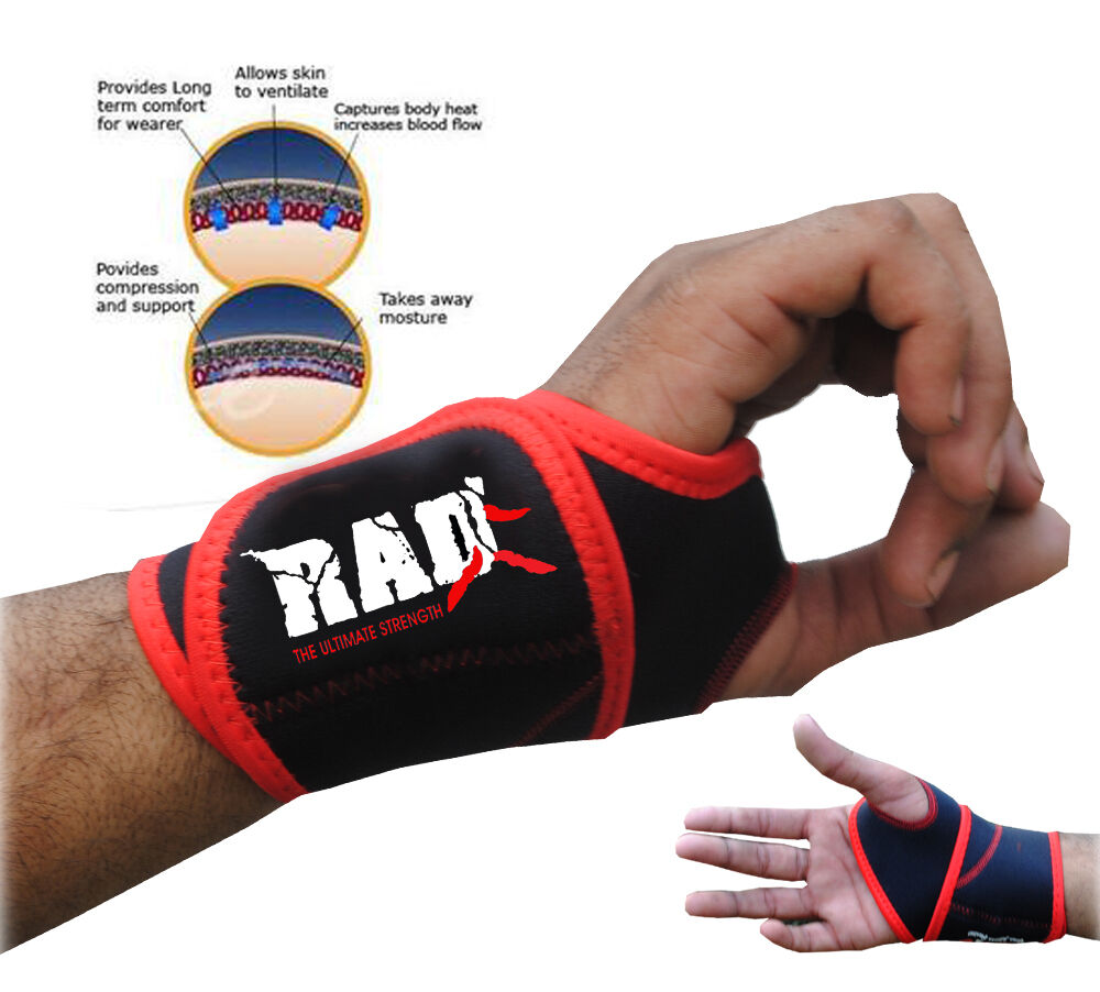 Neoprene Weight Lift Training Workout Gym Palm Exercise: Rad 1 Pair Neoprene Wrist Thumb Brace Support GYM Weight