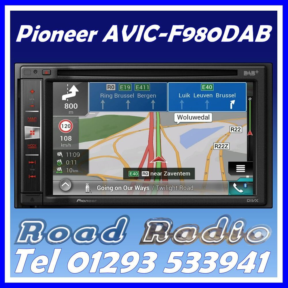 brand new pioneer avic f980dab includes glassmount dab. Black Bedroom Furniture Sets. Home Design Ideas