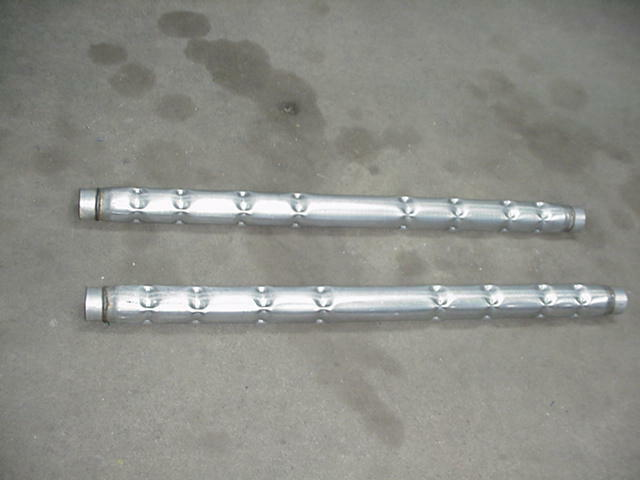 Turbo Tube Aluminized Muffler 2 1 4 Quot Inner 48 Quot Long Ebay