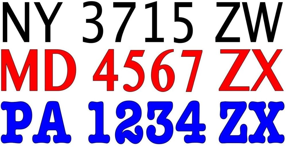 Boat registration numbers vinyl decal lettering 2 3quoth x for Vinyl letter stickers for boats