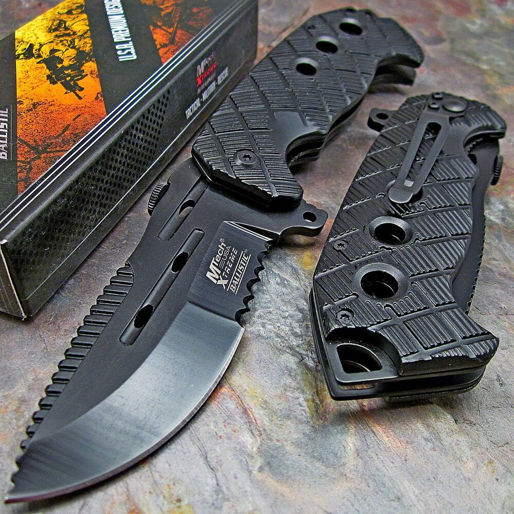 Mtech Cleaver: MTECH XTREME Spring Assisted Open HEAVY DUTY TACTICAL