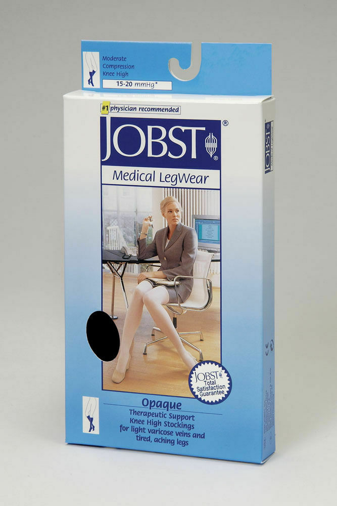 979b0dc9f25 Jobst Opaque 15-20 mmHg Knee High Stockings Natural All Sizes 115212 ...