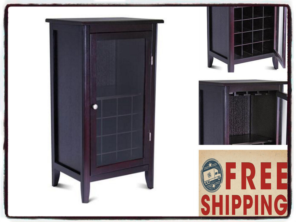 Home Bar Cabinet Wine Liquor Storage Furniture Room Kitchen Server Bottle Pub Ebay