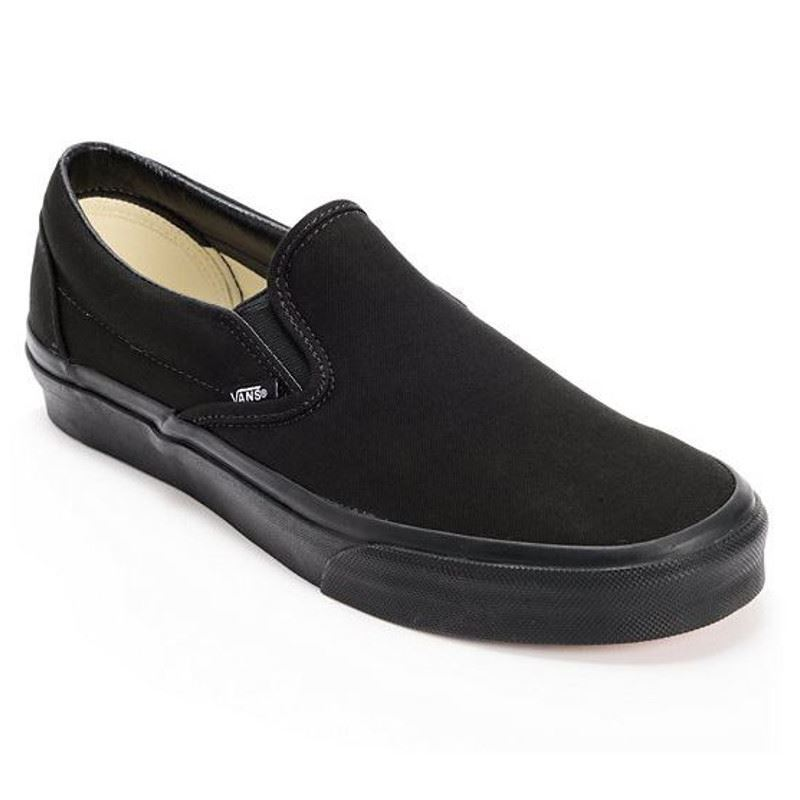 30f4ff501f Details about Vans CLASSIC SLIP ON Mens Womens Black 0EYEBKA Canvas Low Top  Skateboard Shoes