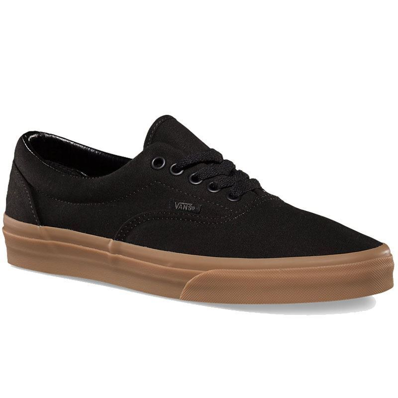 Vans Era Mens Black Classic Gum 0w3cdum Canvas Lace Up Low