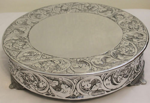14 inch silver wedding cake stand grand wedding silver cake stand plateau 14 inch ebay 10046