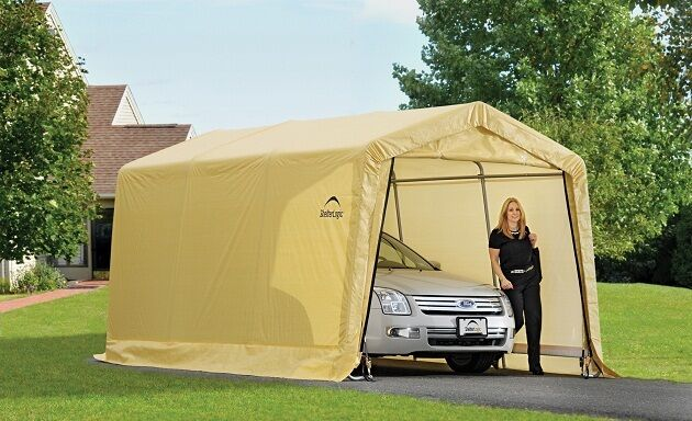 ShelterLogic 10x15 Storage Shed Auto Shelter Portable ...