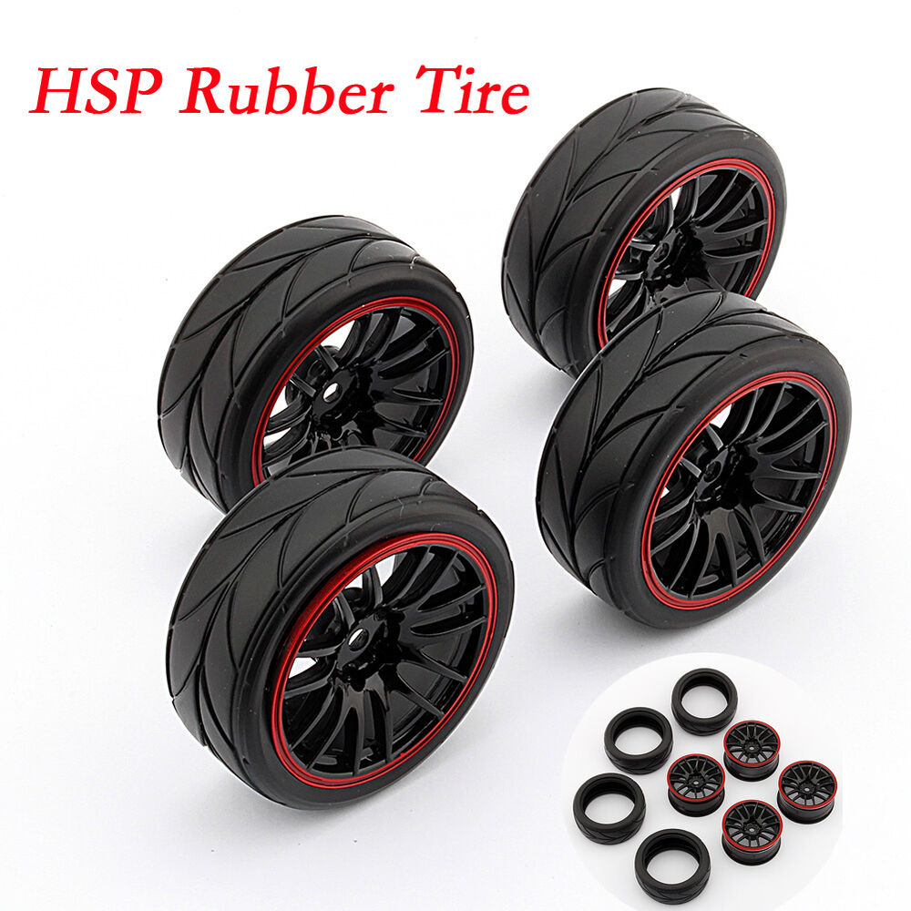 4pc pneu roue rc 1 10 voiture jante echelle tires caoutchouc hsp hpi 9068 6081 ebay. Black Bedroom Furniture Sets. Home Design Ideas