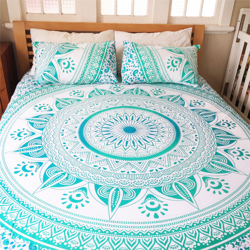 Star Ombre Bed Cover Bedspread Indian Bohemian Tapestry