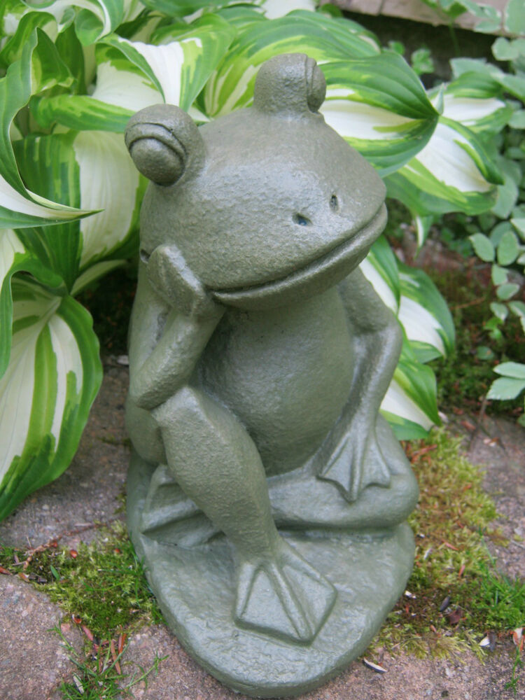 Frog Statue Relaxing Frog Painted Concrete Frog Statues