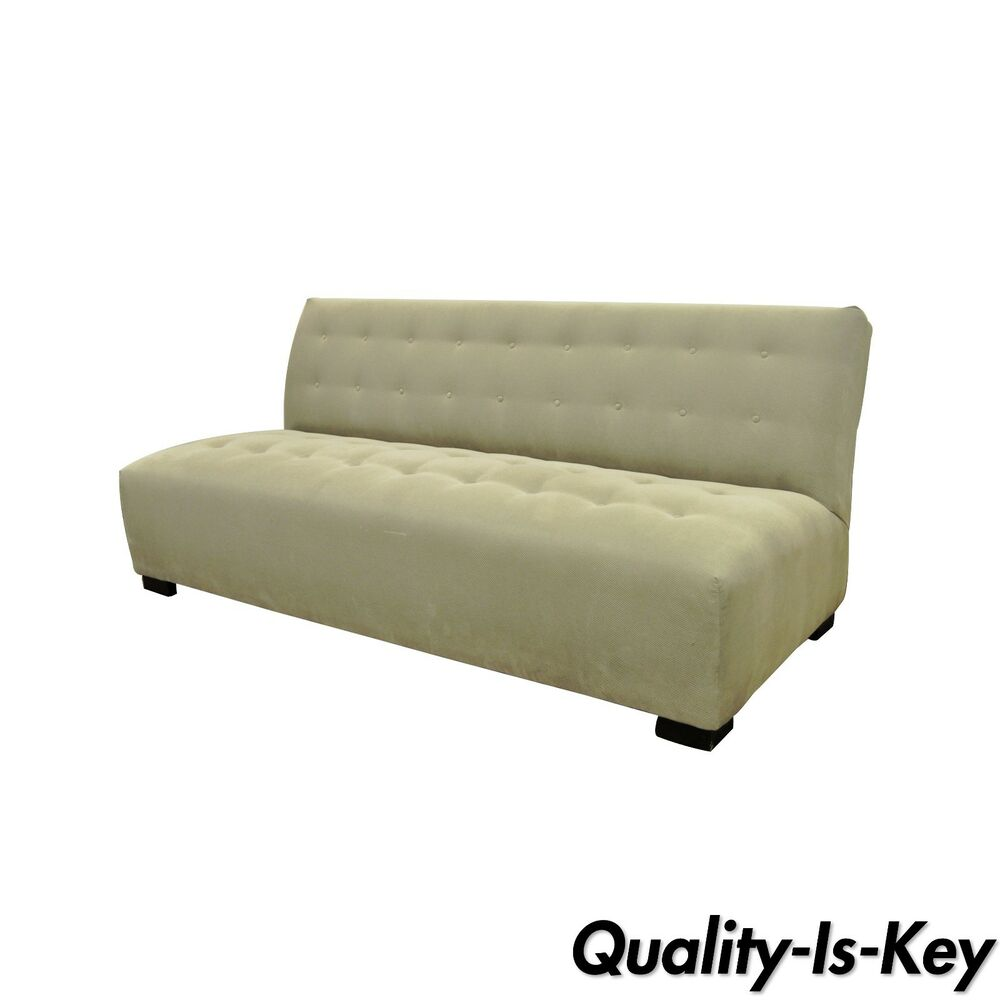 Crate U0026 Barrel Mitchell Gold Modern Plus Armless Sofa Loveseat Couch  336 003T 20 | EBay