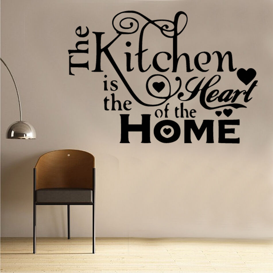 Kitchen Heart Of Home Wall Sticker Art Kitchen Sayings