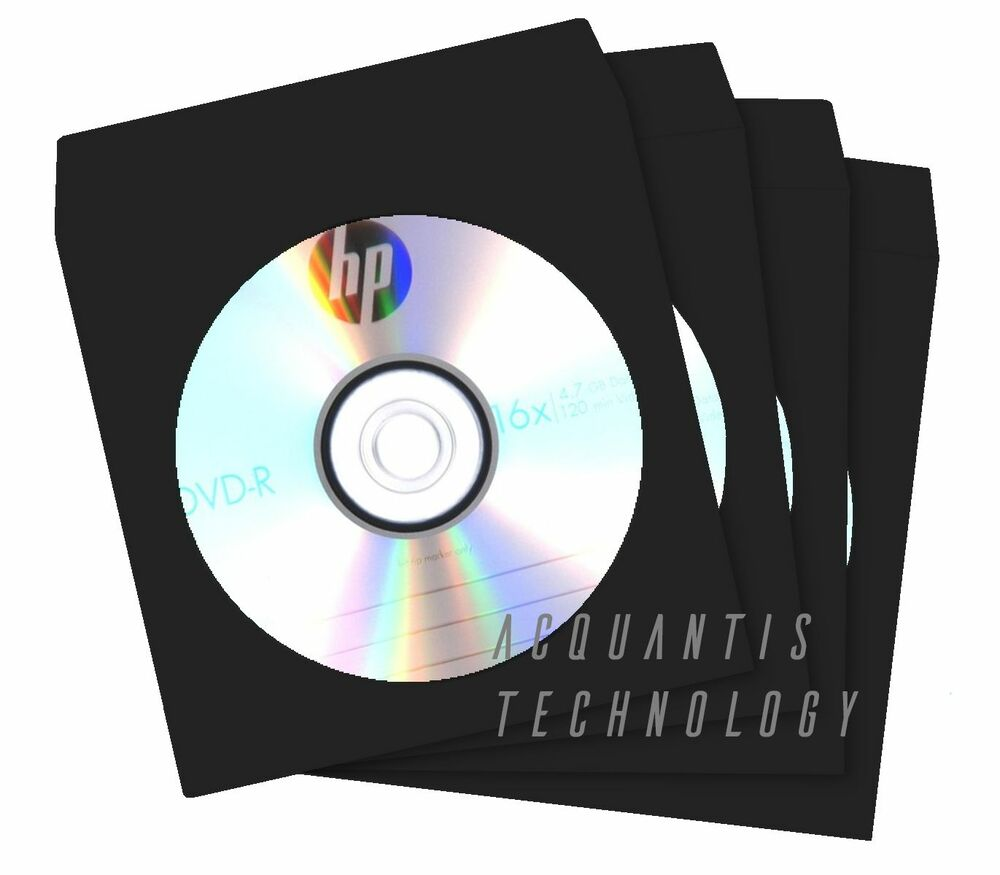 100 black color cd dvd paper sleeves w clear window for 100 paper cd sleeves with window flap