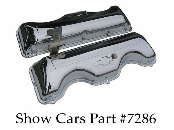 64,65 CHROME VALVE COVERS 409 CHEVY CHEVROLET IMPALA BEL ...