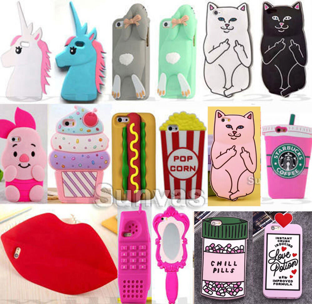 cute iphone cases 5s 3d soft silicone phone cover for iphone 4 4s 5 13934