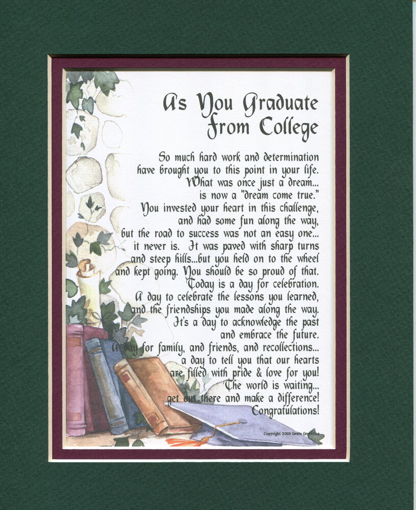 #143 Gift Present Keepsake Poem for a son or daughter's ...