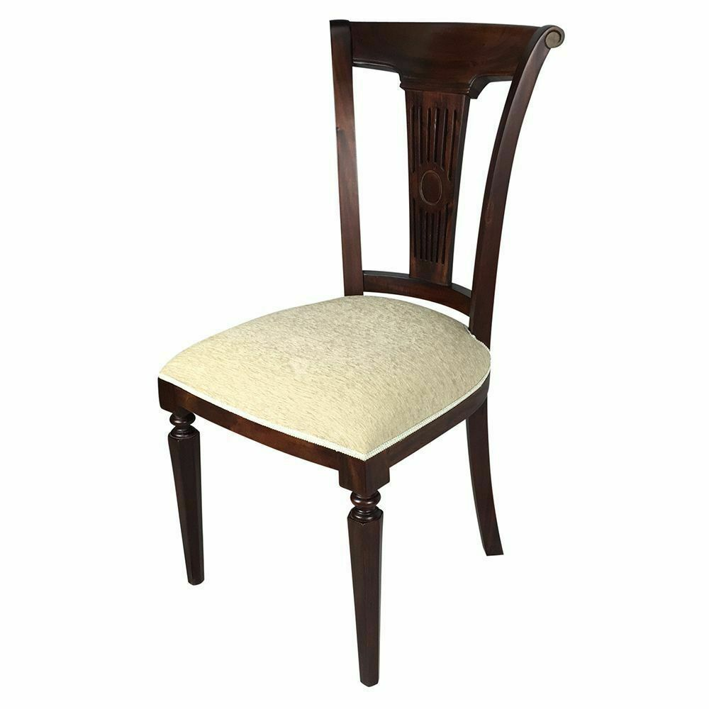 Solid Mahogany Wood Royal Upholstered Dining Chair Antique Reproduction Style : eBay